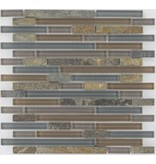 Mosaik Glas & Marmor  Multicolor Grau Braun - 30 cm x 30 cm