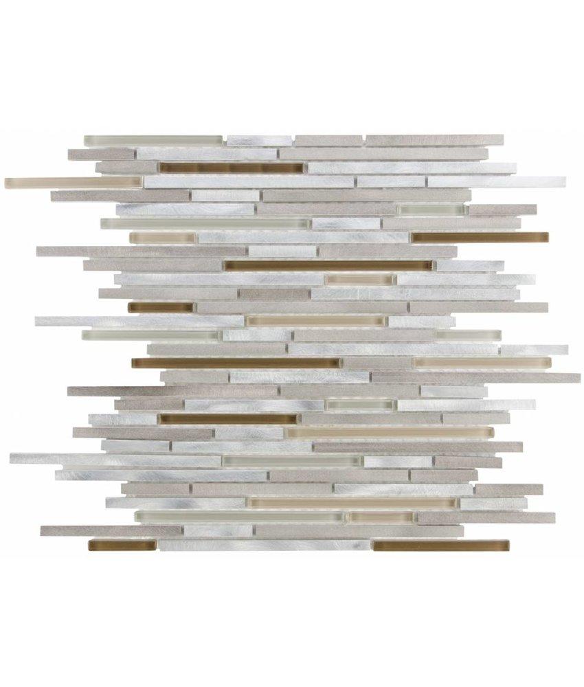 Mosaik Glas & Aluminium Cosmos Earth - 30 cm x 40,8 cm