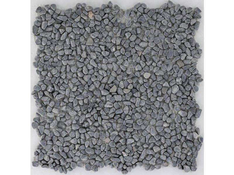 Naturstein Flusskieselmosaik Schwarz - 30,5 cm x 30,5 cm