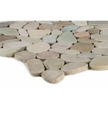 Naturstein Flusskieselmosaik Toscana - 30 cm x 30 cm