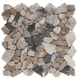 Polymosaikfliese Marmor Fossil Wood - 30,5 cm x 30,5 cm