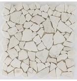 Polymosaikfliese Marmor Biancone - 30,5 cm x 30,5 cm