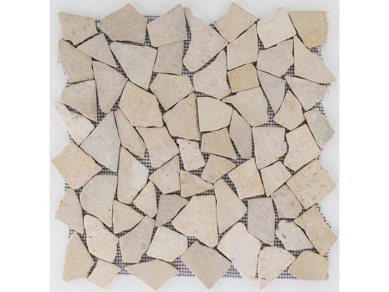 Polymosaikfliese Marmor Tan - 30,5 cm x 30,5 cm