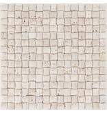 Mosaikfliese Naturstein Travertin Beige Mix  - 30 cm x 30 cm