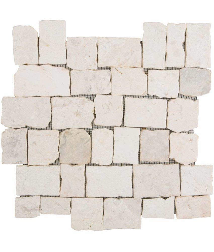 Mosaikfliese  Marmor Murcino Creme - 30 cm x 30 cm