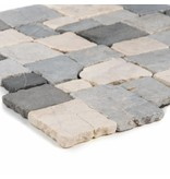 Mosaikfliese  Marmor Murcino Creme Grey  - 30 cm x 30 cm