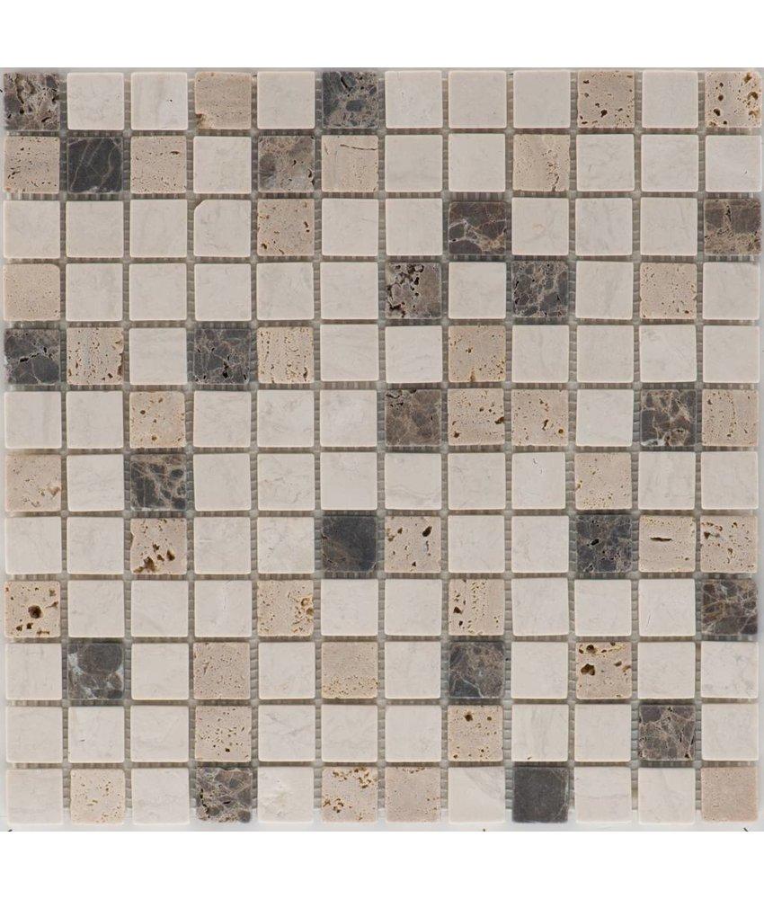 Mosaikfliese Naturstein Kronos Multicolor - 30,5 cm x 30,5 cm