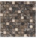 Mosaikfliese Naturstein Kronos Marron - 30 cm x 30 cm