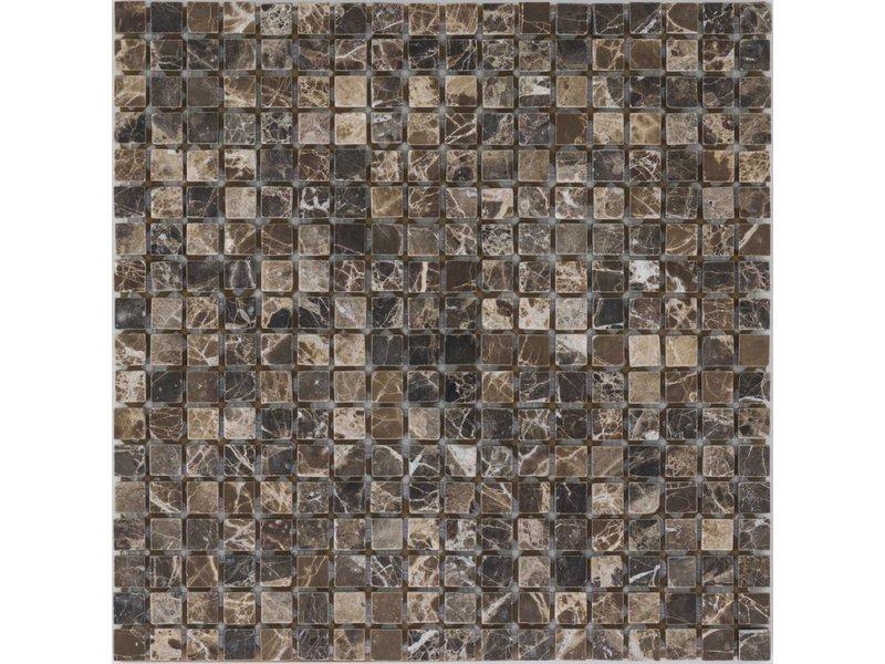 Mosaikfliese Marmor Emperador Dark - 30,5 cm x 30,5 cm