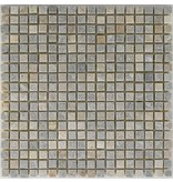 Mosaikfliese Quarzit Beige Bunt - 30,5 cm x 30,5 cm