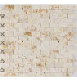 Mosaikfliese Marmor Sunny Beige - 32 cm x 32 cm
