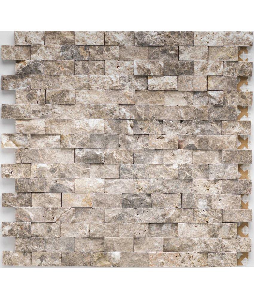 Mosaikfliese Marmor Marron Emperador - 32 cm x 32 cm