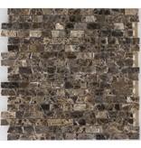 Mosaikfliese Marmor Marron Emperador Dark - 30,5 cm x 30,5 cm