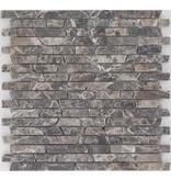 Mosaikfliese Marmor Emperador -  30,5 cm x 30,5 cm