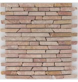 Mosaikfliese Marmor Red Travertino -  30,5 cm x 30,5 cm
