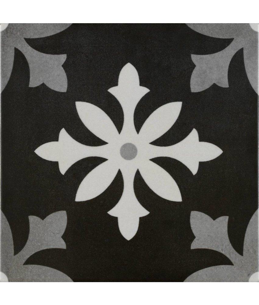 Bodenfliese Vintage Art Negro - 22,3 cm x 22,3 cm