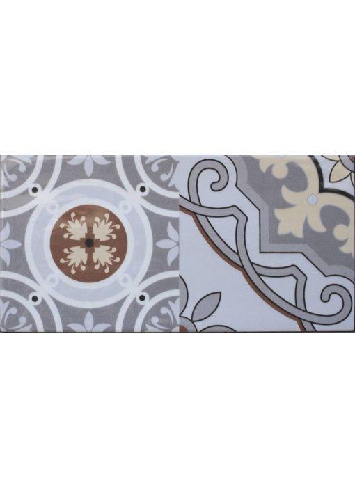 Wandfliese Vintage Loft Dekor Mix - 10 cm x 20 cm