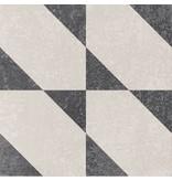 Bodenfliese Vintage Heidelberg Dekor 11 - 18,6 cm x 18,6 cm