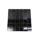 GLASMOSAIK FLIESEN - Black Pearl - schwarz / glitzer
