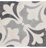 Bodenfliese Vintage Heidelberg Dekor 15 - 18,6 cm x 18,6 cm
