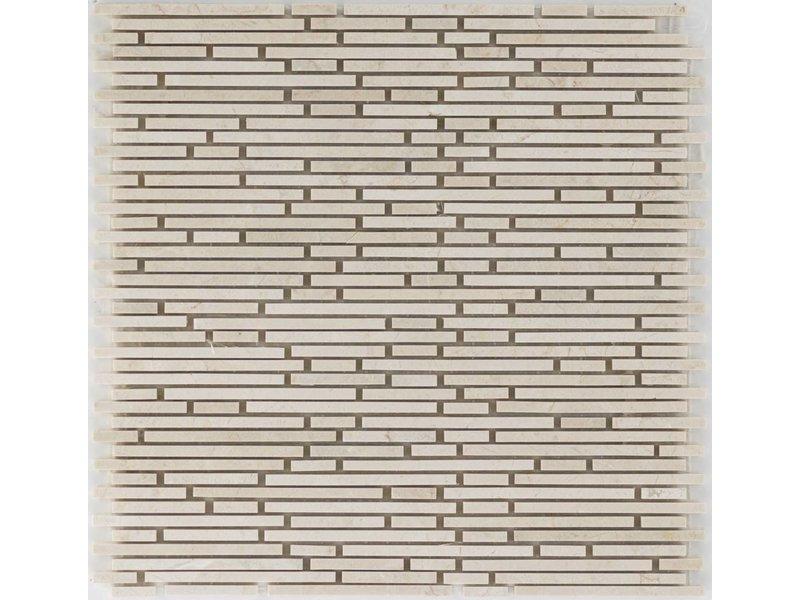 Mosaikfliese Marmor Biancone Beige - 30,5 cm x 30,5 cm