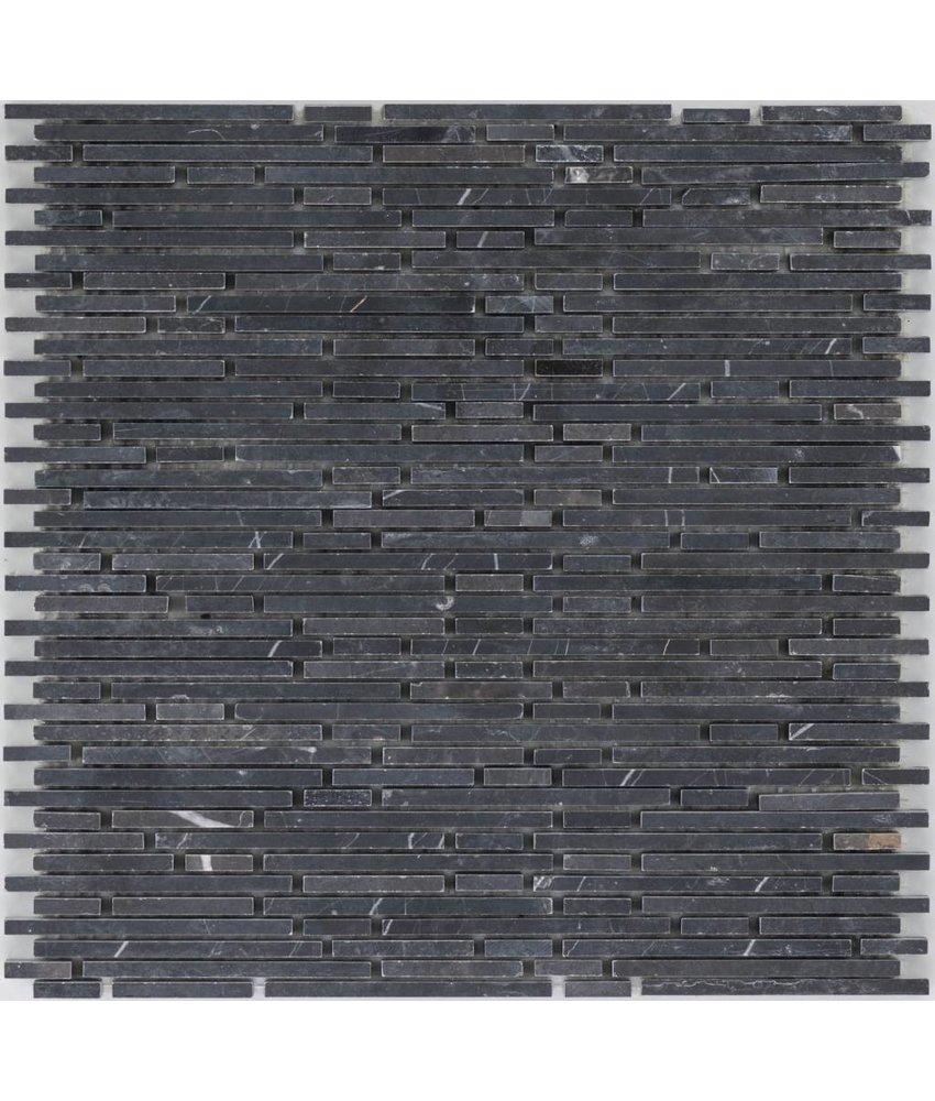 Mosaikfliese Marmor Negro Glacia - 30,5 cm x 30,5 cm