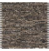 Mosaikfliese Marmor Marron Emperador - 30,5 cm x 30,5 cm