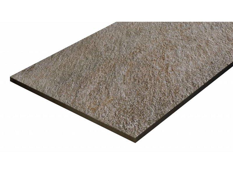 Terrassenplatte Feinsteinzeug Manhattan Dunkelgrau - 60 cm x 90 cm