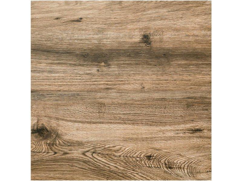 Terrassenplatte Feinsteinzeug Strobus Oak Holzoptik - 60 cm x 60 cm