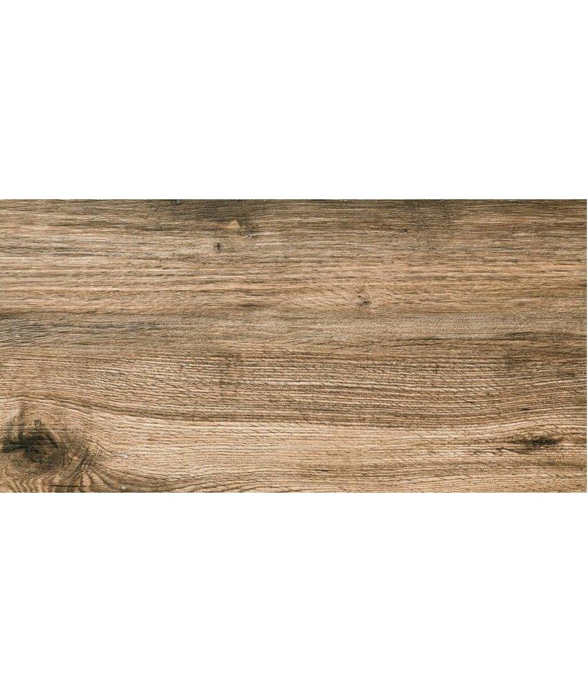 Terrassenplatte Feinsteinzeug Strobus Oak Holzoptik - 45 cm x 90 cm