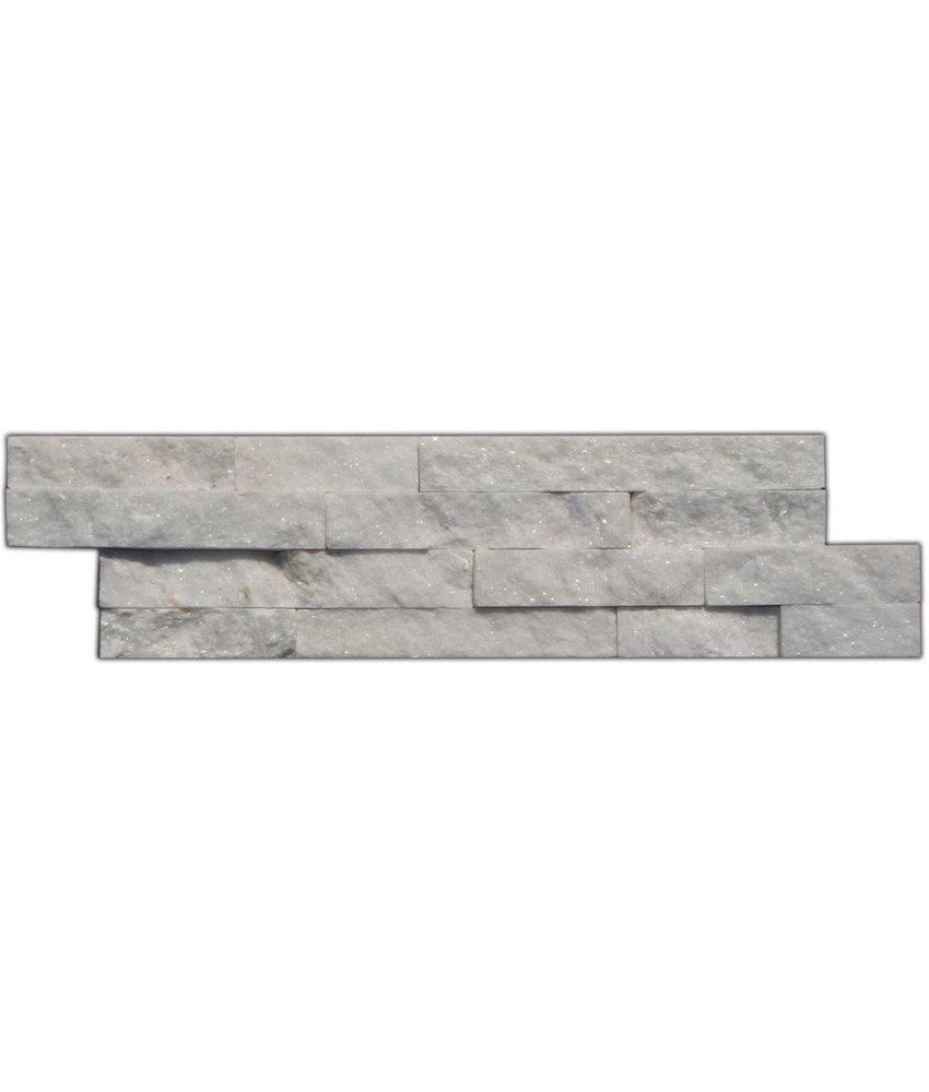 Wandverblender Naturstein Quarzit Weiß Mix - 15 cm x 60 cm