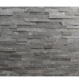 Wandverblender Ecke Schiefer schwarz - 20/40x15 cm