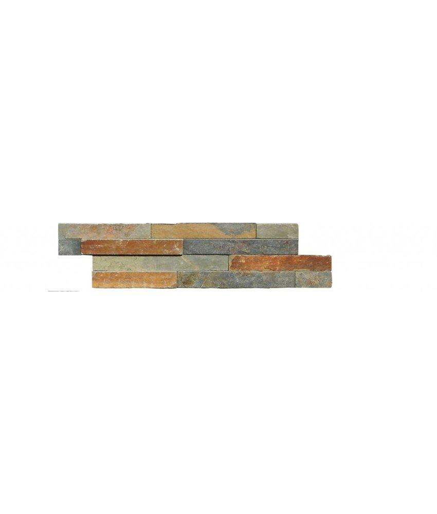 Wandverblender Naturstein Schiefer Multicolor - 10 cm x 40 cm
