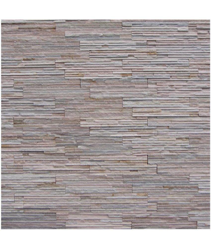 Wandverblender Naturstein Quarzit Beige Slimline - 10 cm x 40 cm