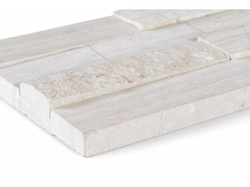Wandverblender Naturstein Marmor Grey Stripe - 10 cm x 40 cm