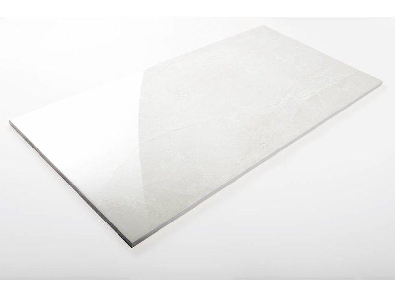 Wandfliesen rektifiziert - ALABASTRO grau glänzend - 30x60 cm