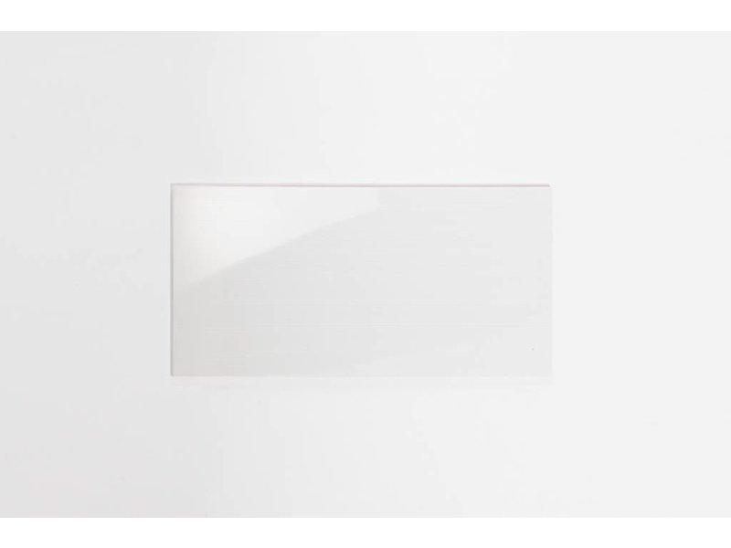 Wandfliesen rektifiziert - TIRA weiß gestreift glänzend - 30x60 cm