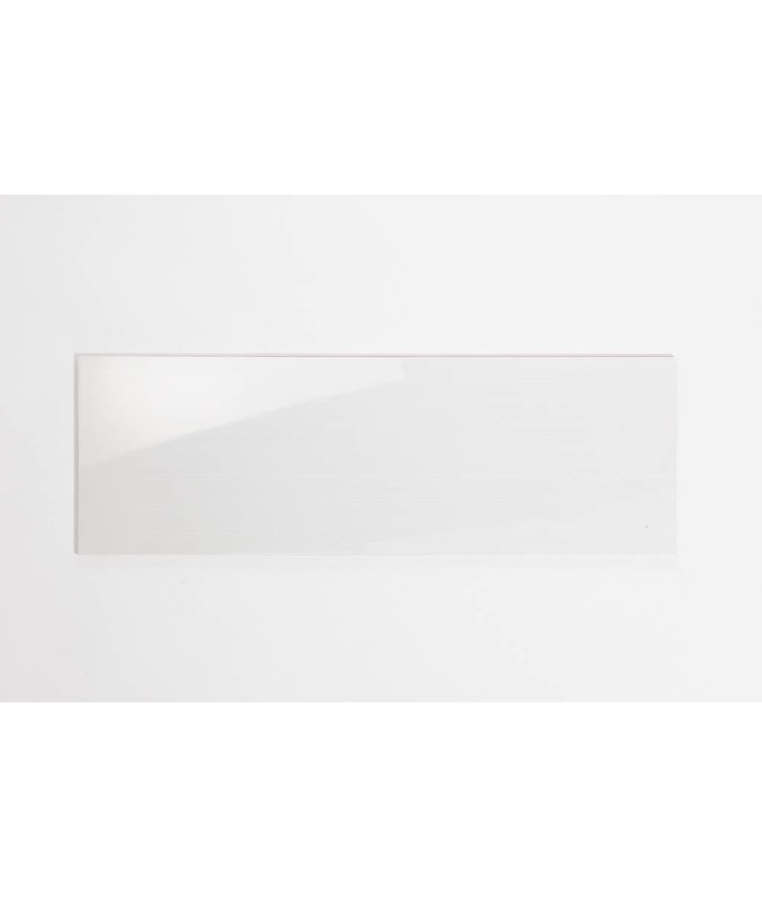 Wandfliesen rektifiziert - TIRA weiß glänzend gestreift glänzend - 30x90 cm