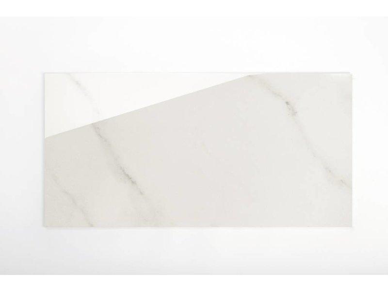 Wandfliesen rektifiziert - CALACATTA/ DIVA beige marmoriert glänzend - 30x60 cm