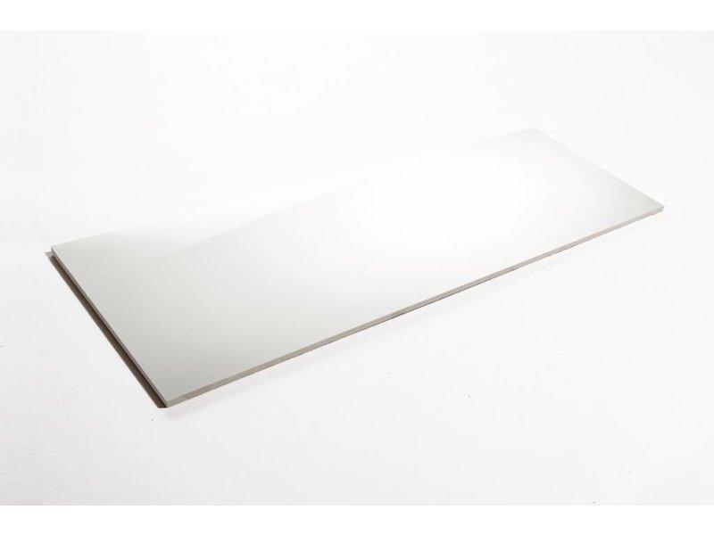 Wandfliesen rektifiziert - weiß glänzend - 30x90 cm