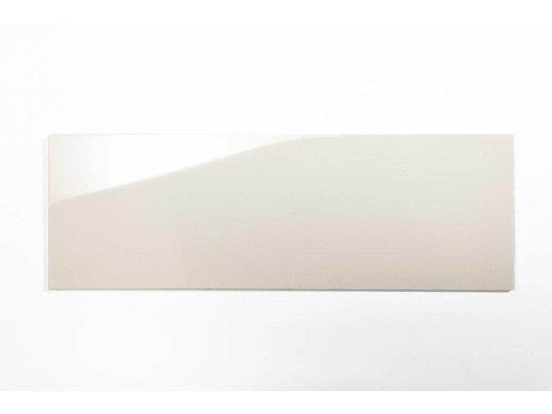 Wandfliesen rektifiziert - hellcreme glänzend - 30x90 cm