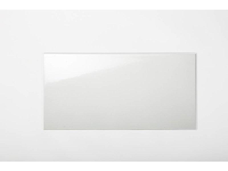 Wandfliesen nicht rektifiziert - weiß glänzend - 25x50 cm