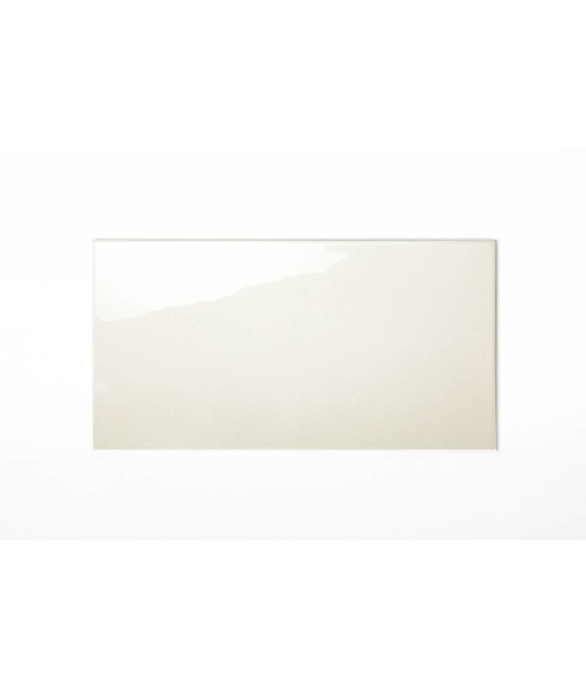 Wandfliesen nicht rektifiziert - hellcreme glänzend - 25x50 cm