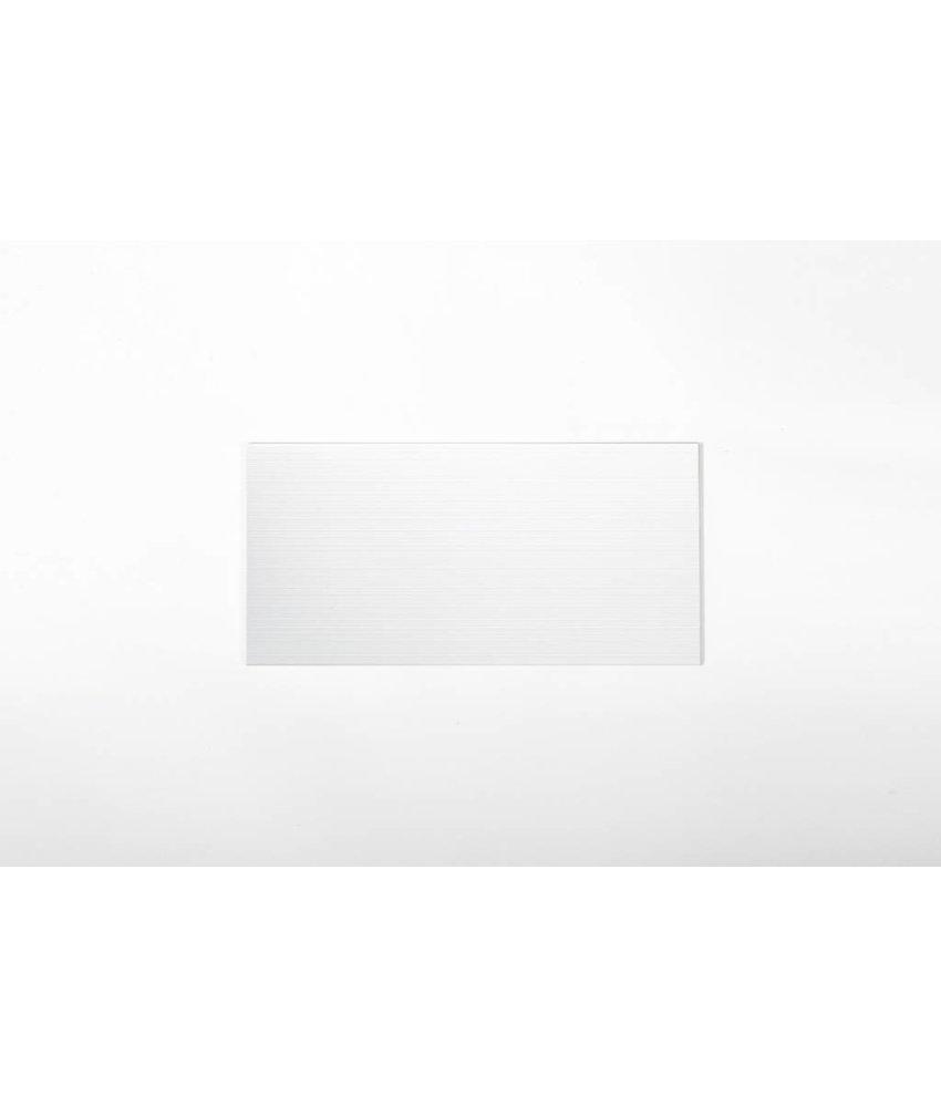 Wandfliesen nicht rektifiziert - BALU weiß liniert - 25x50 cm