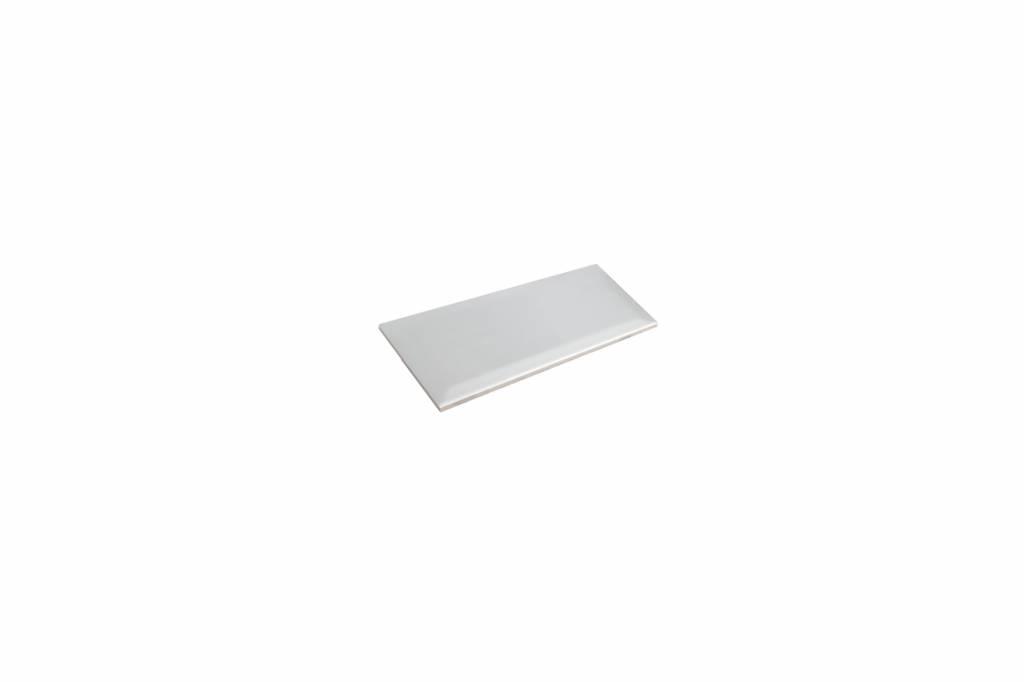 Metro Fliesen mit Facette weiß glänzend 7 5x15 cm