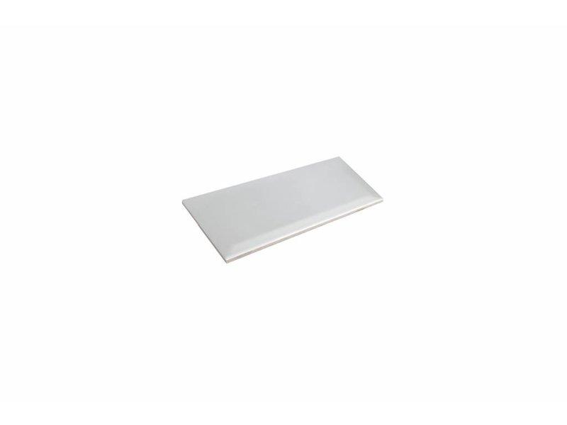 Metro Fliesen mit Facette - weiß glänzend - 10x20 cm