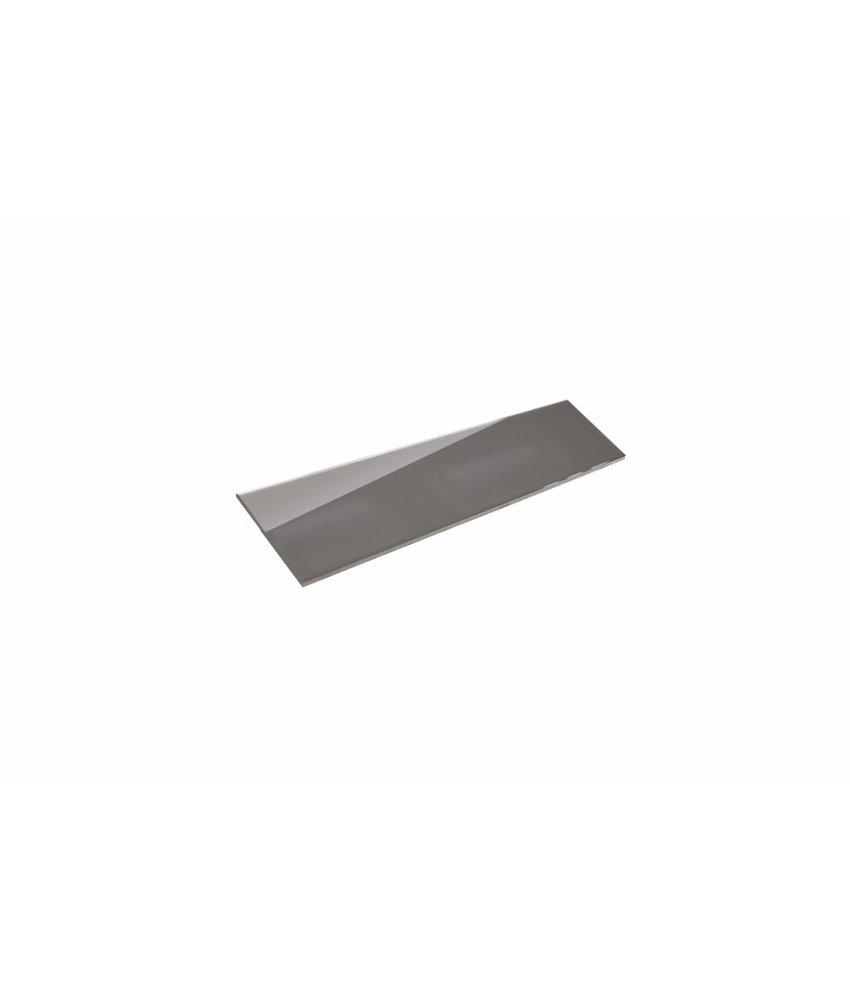 Metro Fliesen 9,7x29,7 cm - dunkelgrau glänzend - 10x30 cm