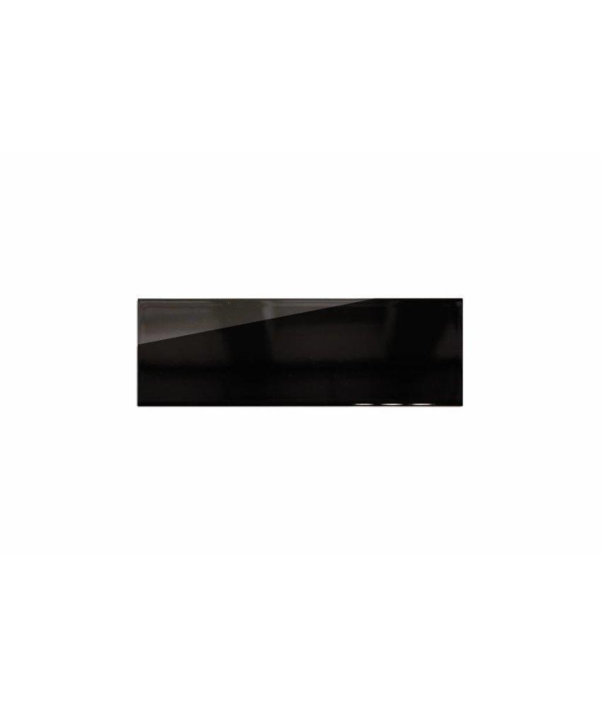 Metro Fliesen 9,7x29,7 cm - schwarz glänzend - 10x30 cm
