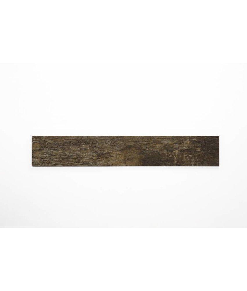 Feinsteinzeug glasiert und eingefärbt - BUFFALO Holzoptik braun - 15x90 cm