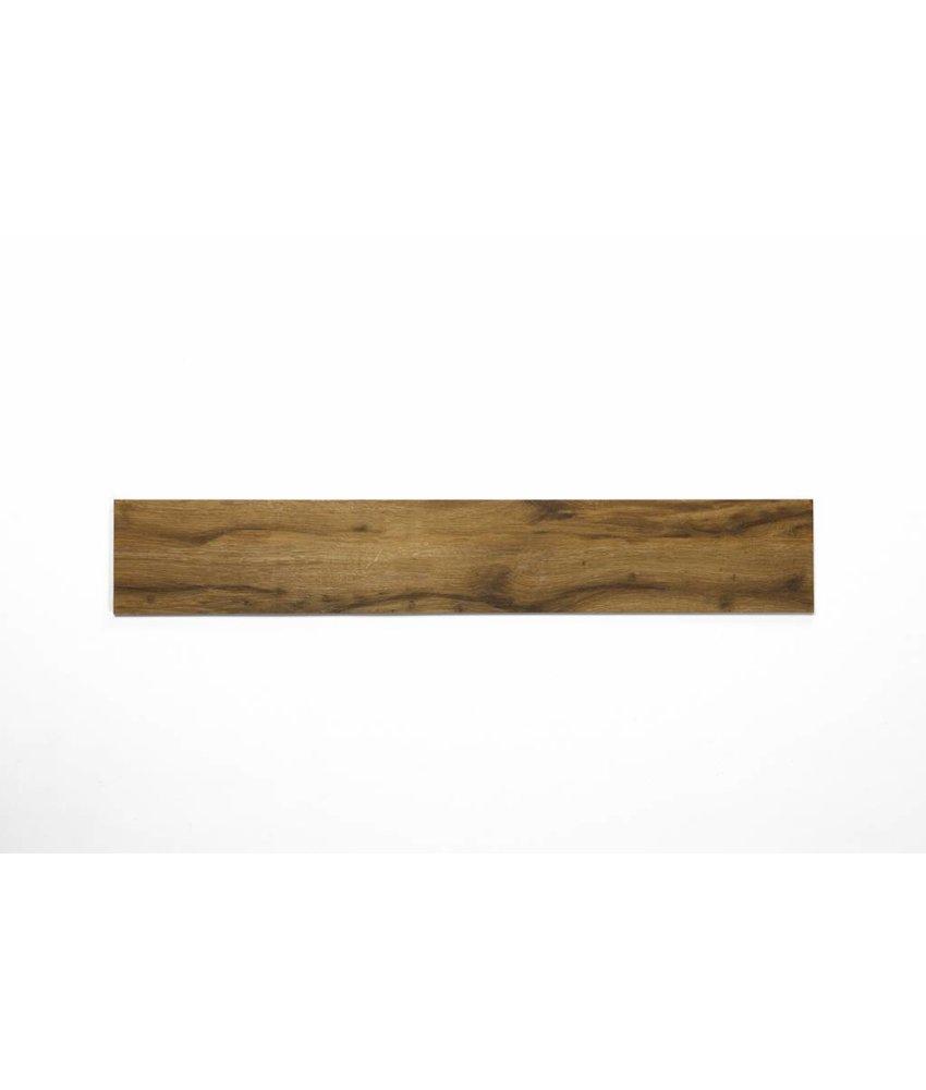 Feinsteinzeug glasiert und eingefärbt - JERSEY Holzoptik braun - 15x90 cm